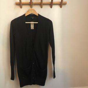 NEW Ann Taylor Black Cardigan Sweater Sequins XXS